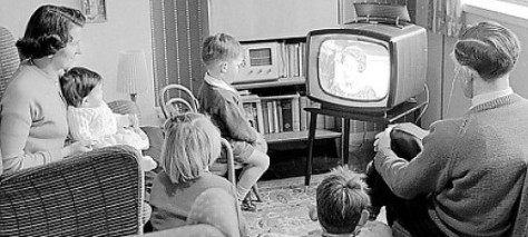 children watching TV banner